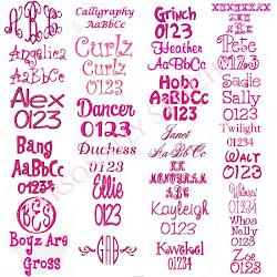 Popular Fonts