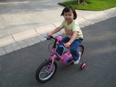 Anna learns to ride a bike