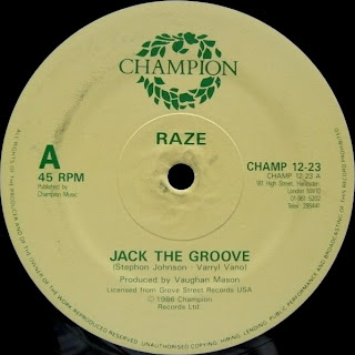 Raze jack the groove vinyl 12 39 39 1986 champion at for House music 1986