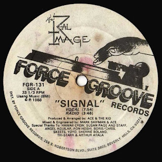 The Real Image - Signal (Vinyl, 12'' 1988)(Force Groove Records)
