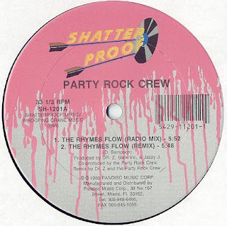 The Party Rock Crew - The Rhymes Flow (Vinyl, 12'' 1989)(Shatter Proof)