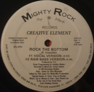 Mighty Rock-Creative Element - Rock The Bottom (Vinyl, 12'' 1989)(Rap Attack Records)