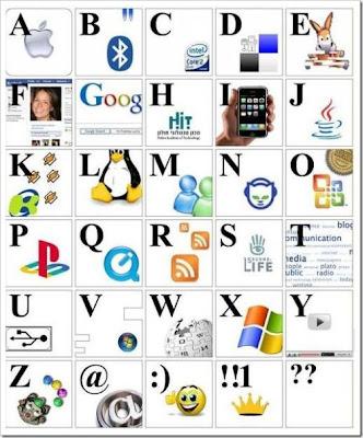 el abecedario en cursiva