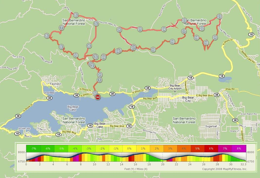 Big Bear Lake Fire Map.Stretching My Legs Drinking The Kool Aid My First Ultra Marathon