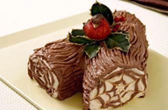 chocolate log.