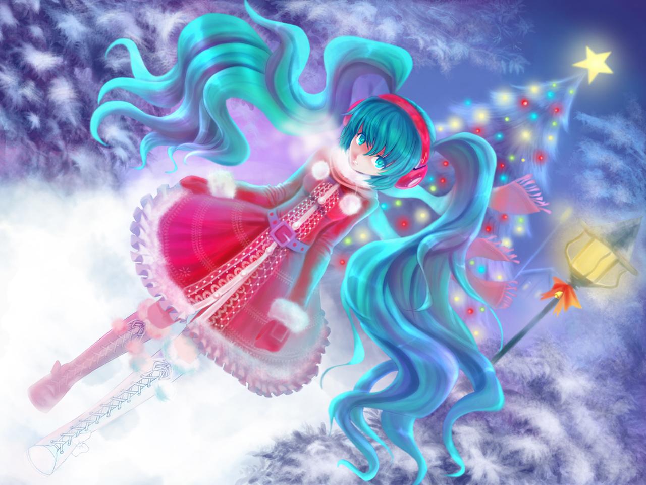 hatsune miku christmas wallpaper - photo #17