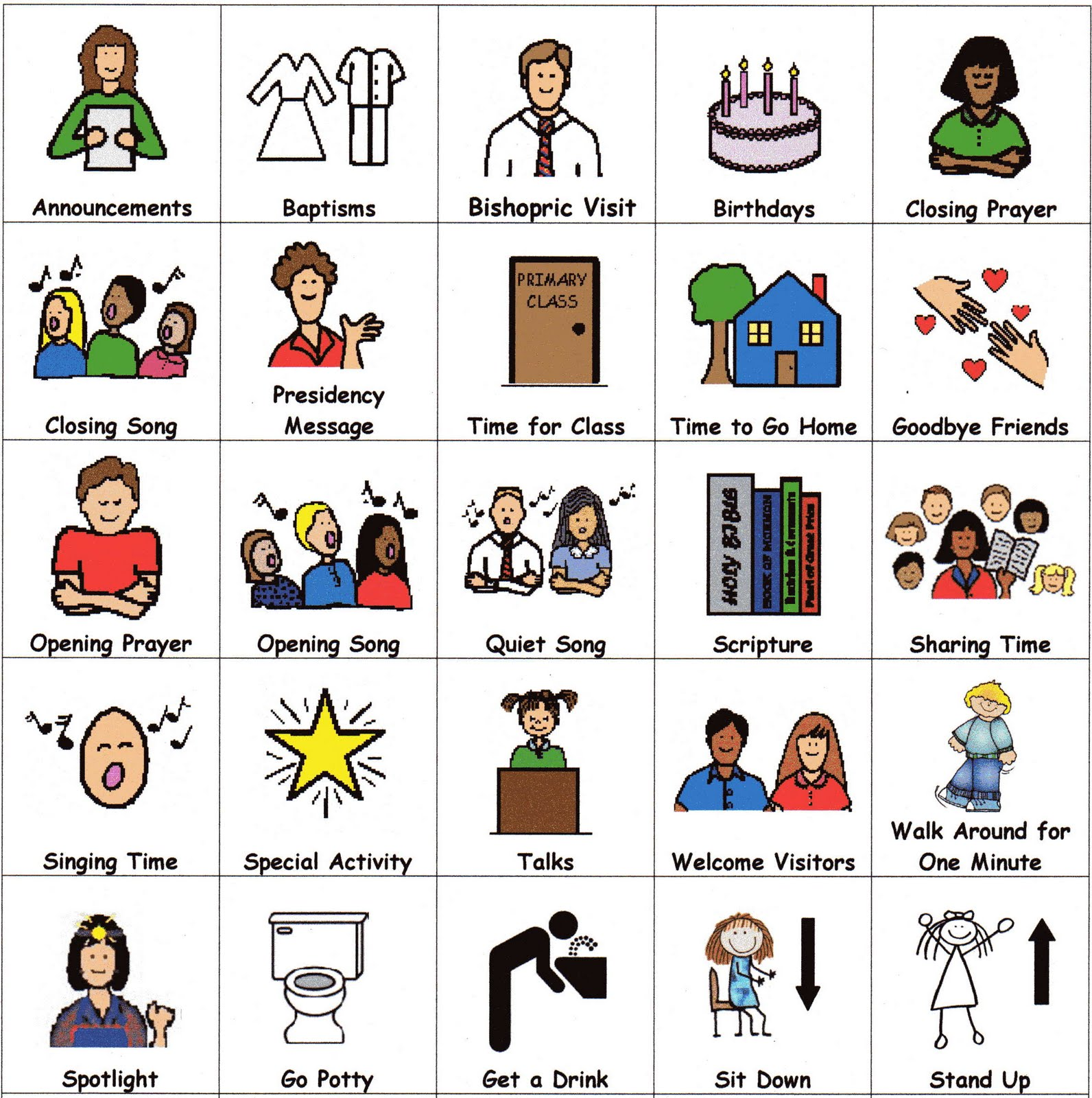 Visual Schedule Icons http://www.pic2fly.com/Schedules+for+Autism.html