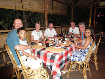 Captain Paul, Family and Friends at Warung Susu, Pemuteran, NW Bali