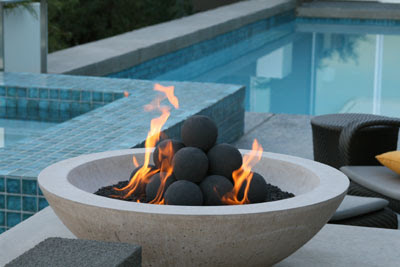 To give credit where credit is due, here are the designers and  manufacturers of all of the fire pits shown here, starting from the top  left: - Fire Pits And Fire Bowls » Sage Outdoor Designs