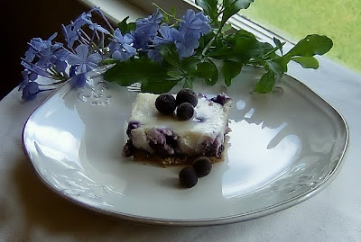 Blueberry Cheesecake Bars | Ms. enPlace