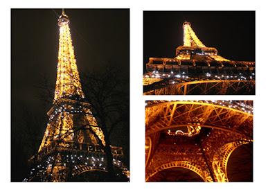 mengajak kami untuk menikmati Paris di malam hari dari puncak Eiffel