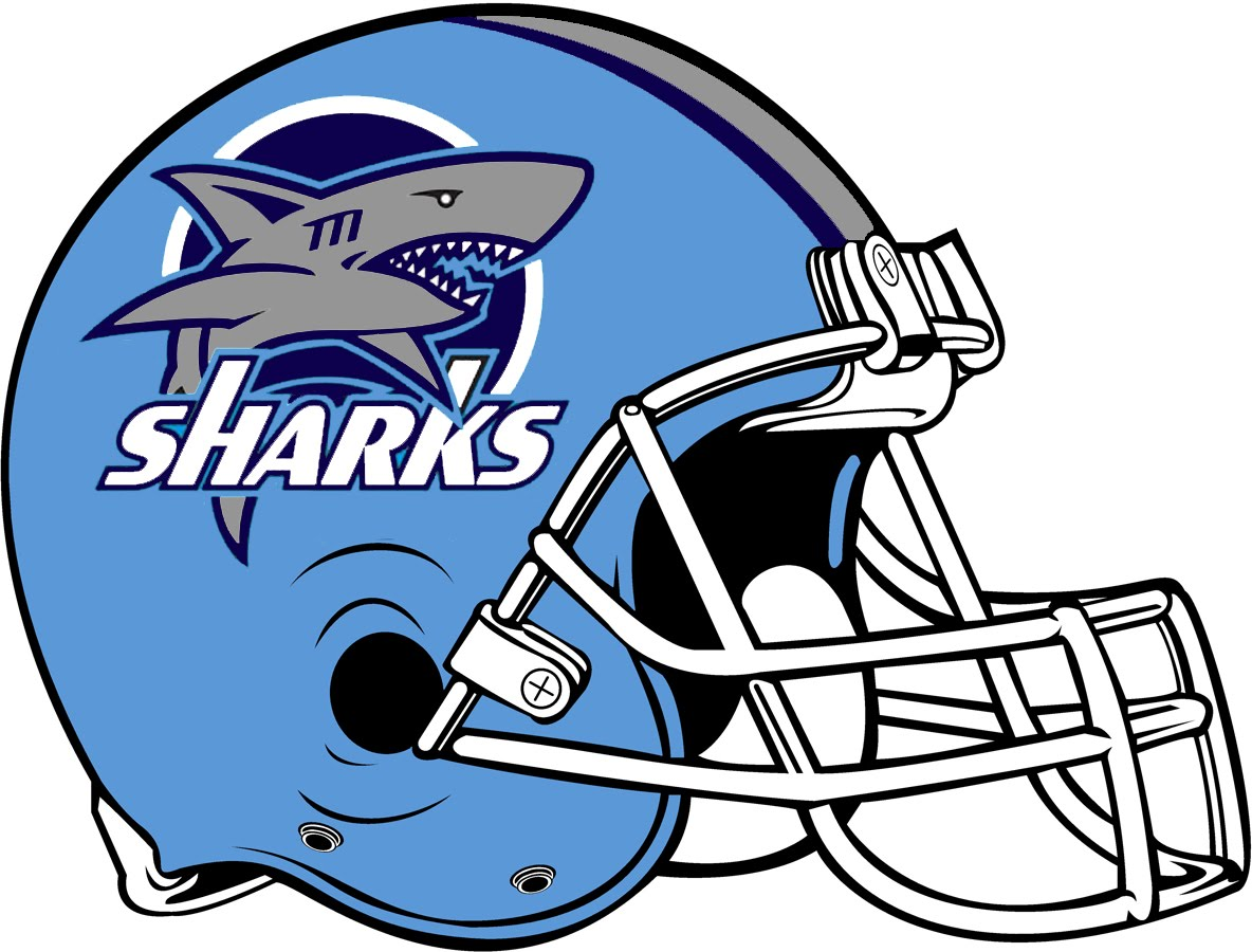 Sharks Football Logo http://tsfl.blogspot.com/2010/08/ducks-unveil-new-helmet.html
