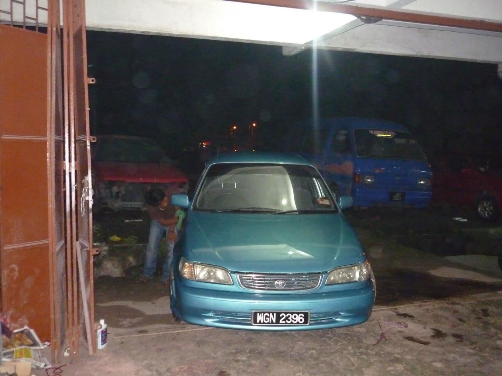 fire starting automobil bengkel cat kereta biru colour