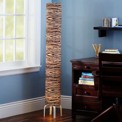 Wood Grain Patterned Floor Lamp from Pottery Barn Teen