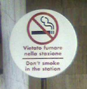 Vietato fumare nella stazione