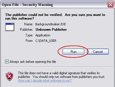 ... langkah langkahnya klik 2 kali pada aplikasi tersebut pilih run