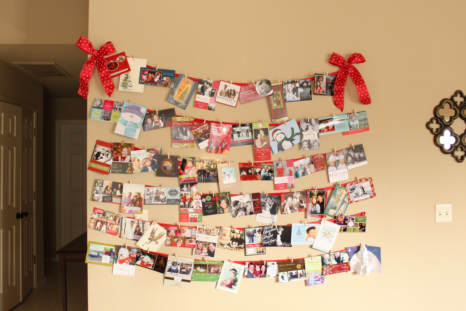 Hanging Holiday Cards In This Wonderful Life