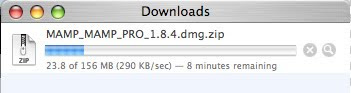 MAMP Download Progress Bar