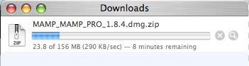 MAMP Download Progress Bar
