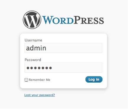 MAMP WordPress LoginPage