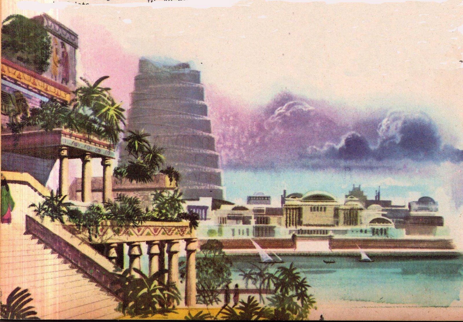 Las siete maravillas del mundo jardines colgantes de for Jardines colgantes babilonia