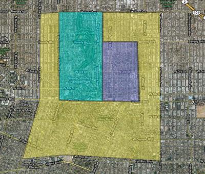 Hancock Park - Wilshire Map