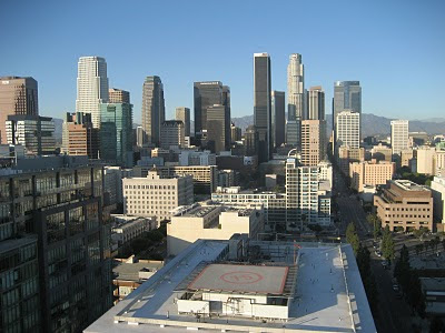 View of Downtown Los Angeles from EVO South