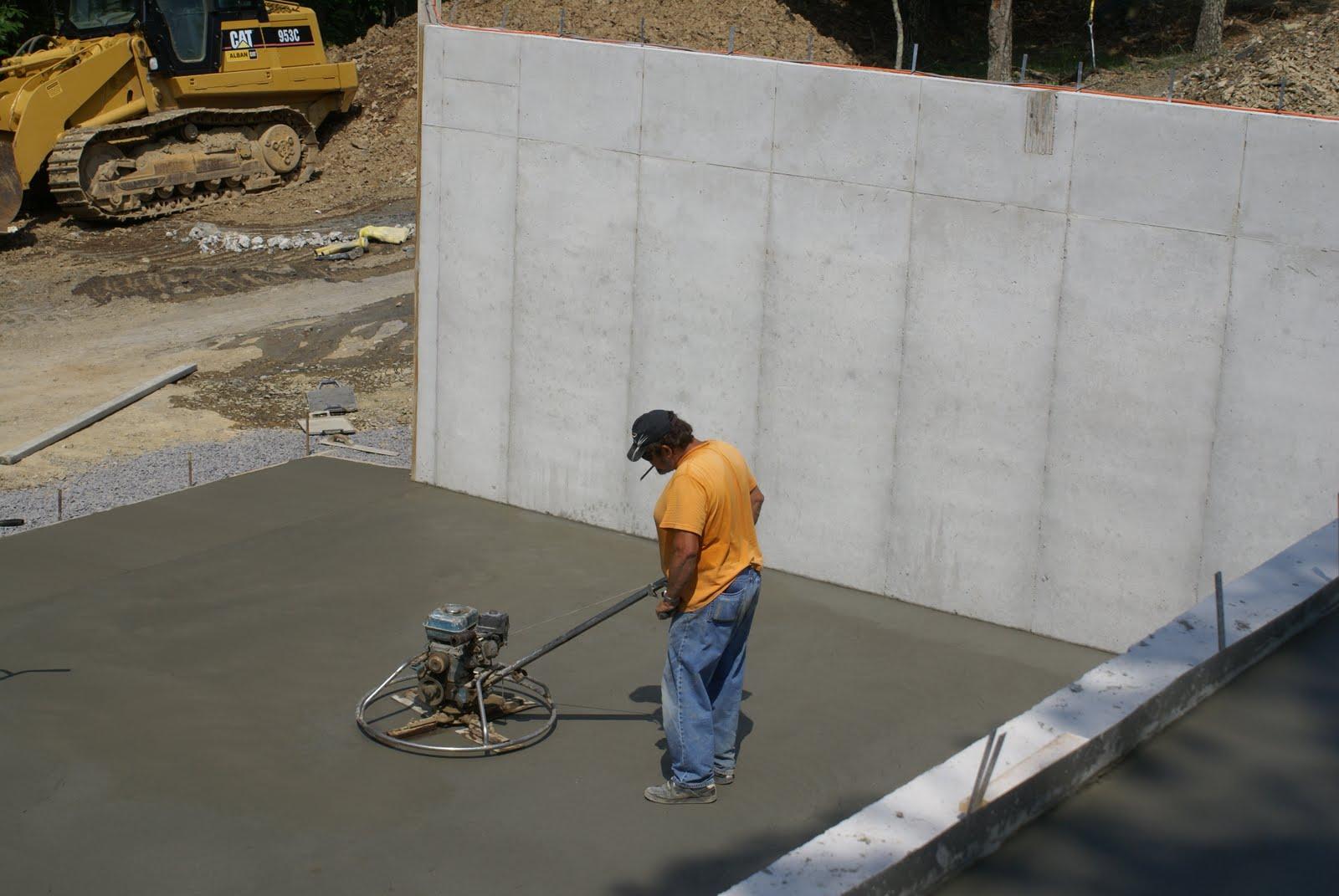 Hidden bend retreat romney west virginia garage concrete for Pouring concrete garage floor