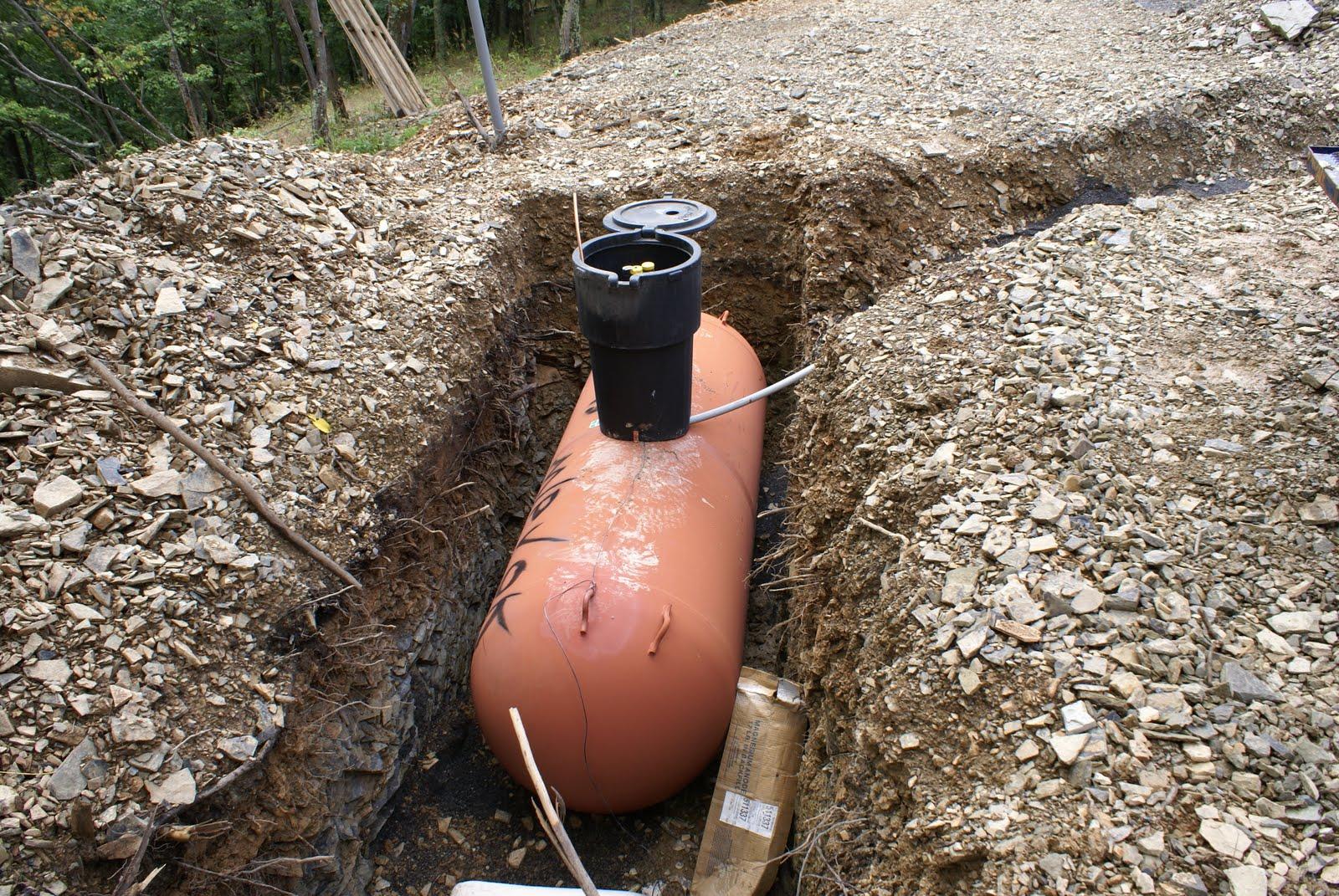 Hidden Bend Retreat Romney West Virginia Propane Tank Buried