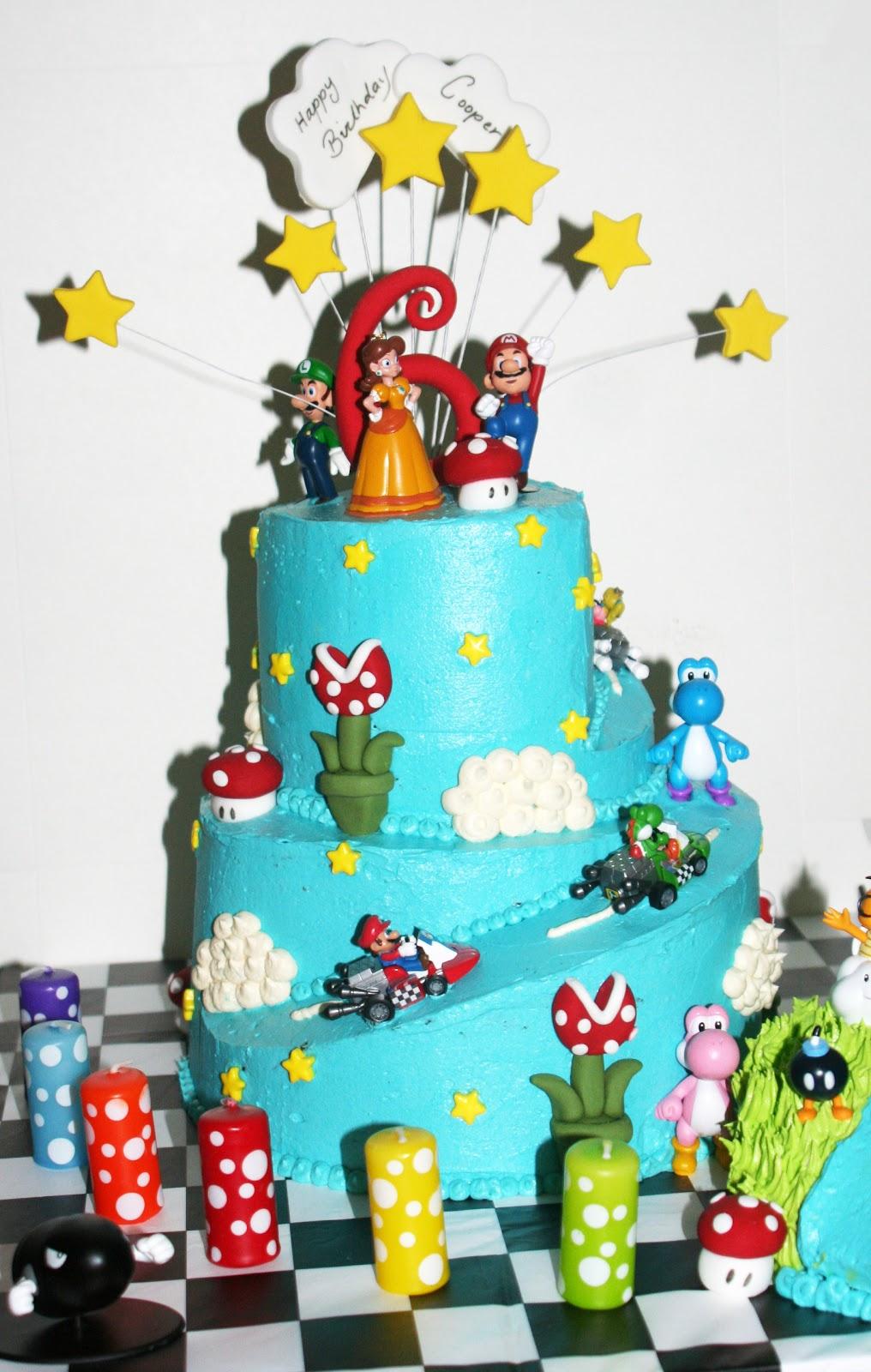 CRAVINGS cakes cupcakes and cookies: Super Mario Bros Cake