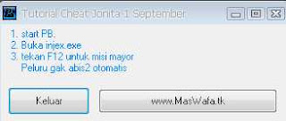 cheat jonita terbaru 3 september 03092010 misi mayor infinity ammo dll jonita alt tab no dc granat darah hp