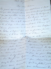 Lettre datant du 19ème siècle...