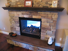Two Sided Concrete Fireplace Hearth and Mantle