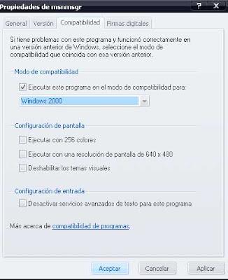 Msn 8.5 obligas a pasar al 2009