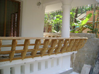 Interior wood work is being done mostly with famous Nilambur teak