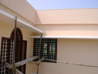 Kerala-House Construction for Binu Thomas: Painting in progress