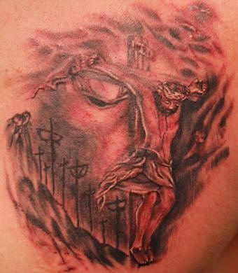 Tatto on Tattoo Usa  3d Jesus Tatoo