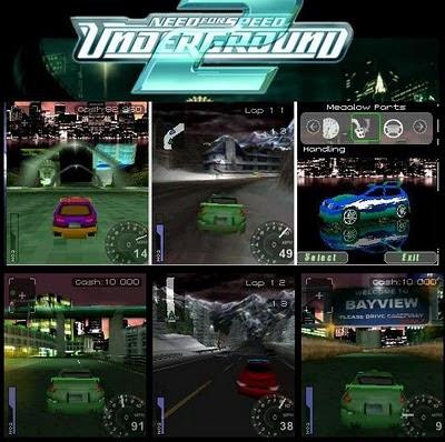 Jogo NFS Underground 2 3D – Celular
