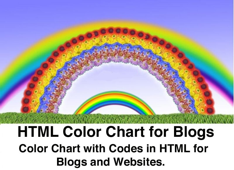 Html Color Chart How To Use The Html Color Codes Google Blogging