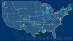 Aeronaves Bandeirante em vôo nos EUA (em tempo real).