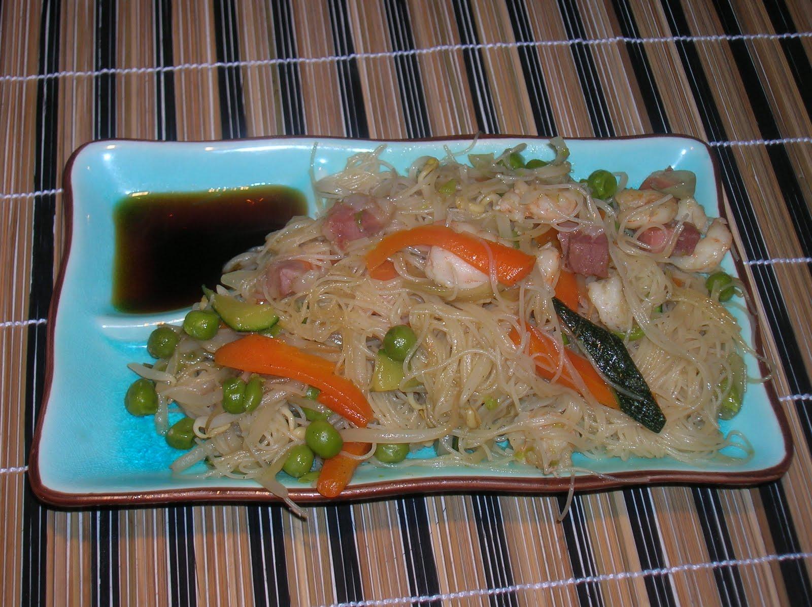 In cucina con Tata: Ricetta cinese: spaghetti di soia con gamberi ...