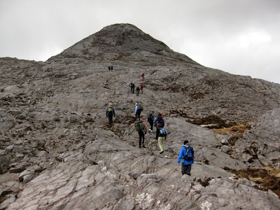 The Derryclare Horseshoe walk in the Lough Inagh Valley in Connemara, county Galway
