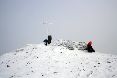Carrauntoohil summit in winter, county Kerry