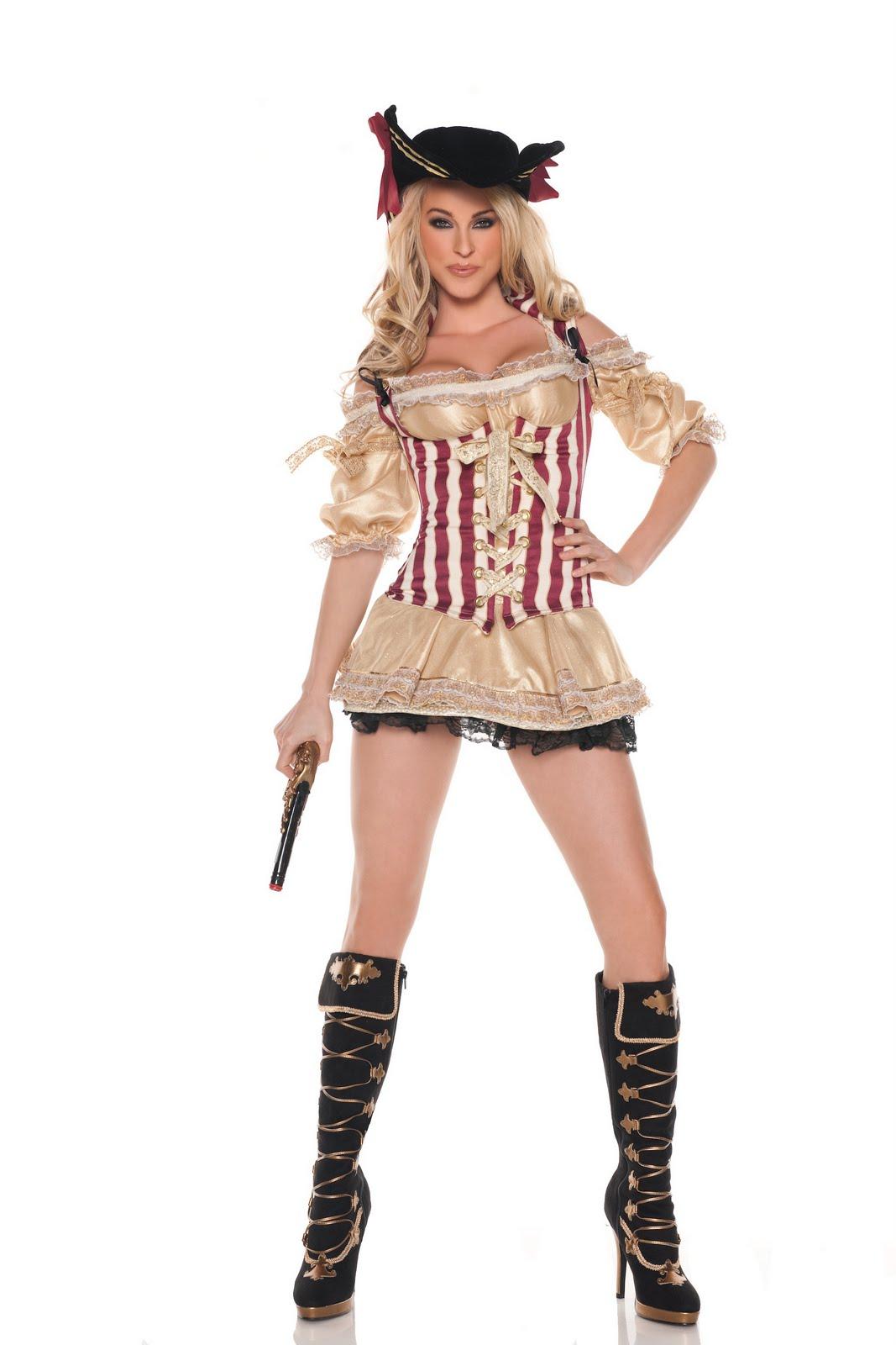 Sexy Pirate Costume pre teen model, euro teen girl