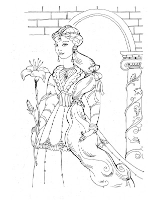 coloring pages disney princesses. Princess Coloring Pages in