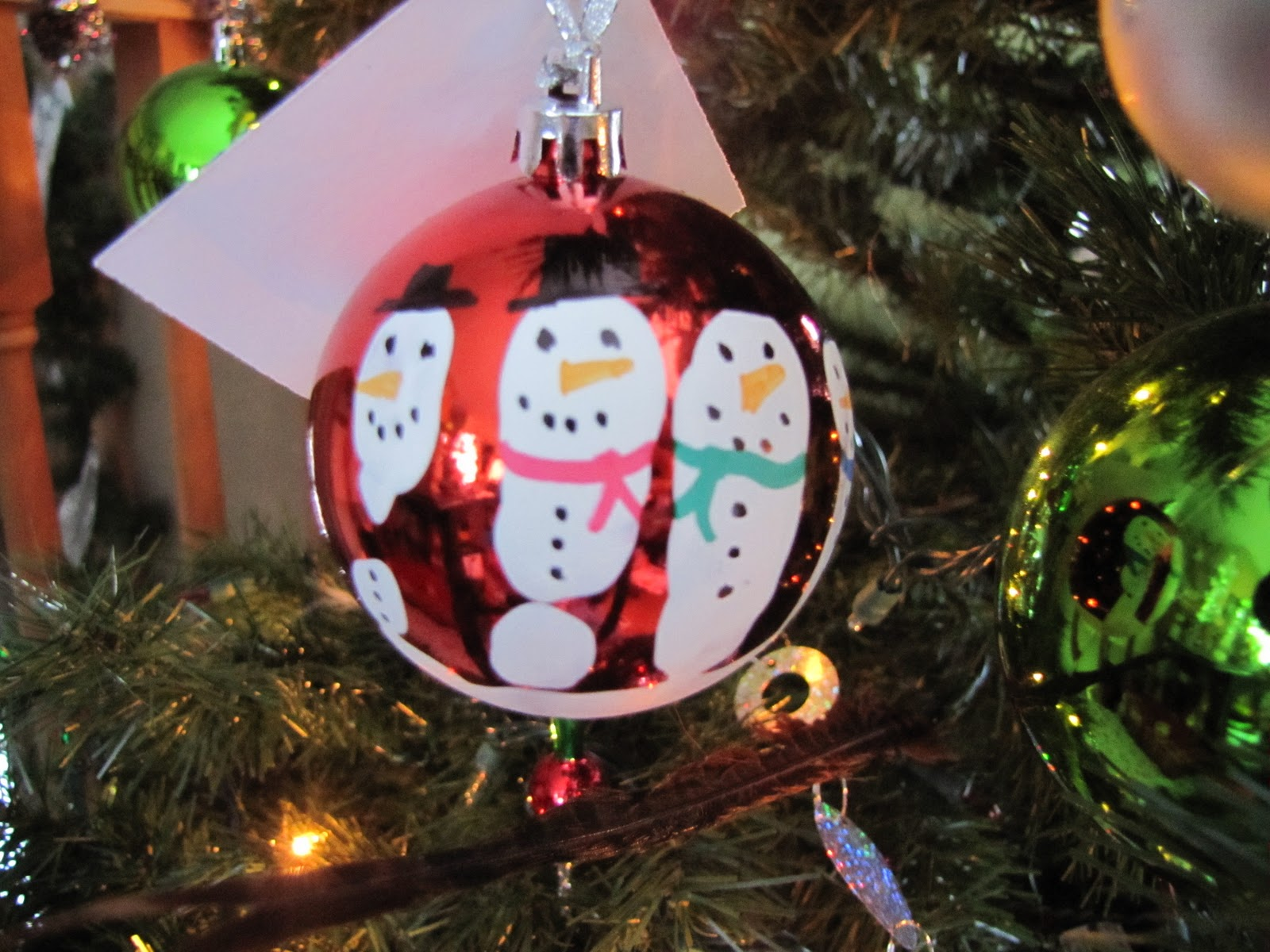 Melted Snowman Ornament Poem I also added this little poem