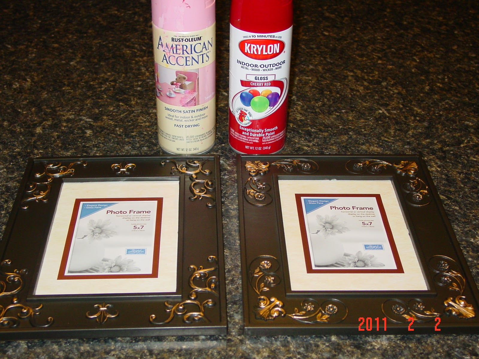 i started out with some spray paint 2 frames also a package of flower petals soaps from where else the dollar tree - Dollar Tree Frames