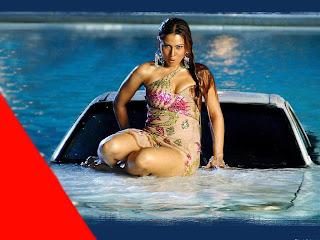 Kim Sharma Super sexy car wash wallpaper