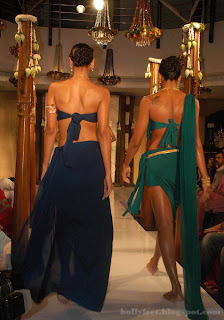Indian models showoff their back..