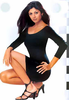 Shilpa super hot black dress